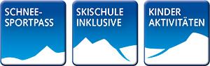 Schneesportpass & Skischule inklusive